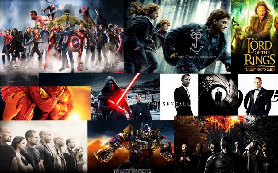 The most successful franchises in cinema.